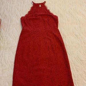 LOFT red formal dress